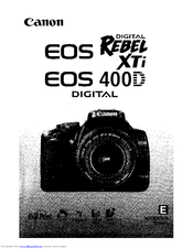 canon eos digital rebel xti manuals rh manualslib com canon rebel xt user manual pdf canon eos digital rebel xti instruction manual
