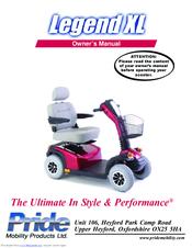 pride mobility legend xl owner s manual pdf download rh manualslib com Pride Legend Mobility Scooter Parts Scooter Buzz XL