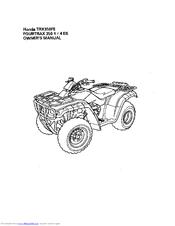 Honda TRX350FE fourtrax 350 4x4 ES Manuals
