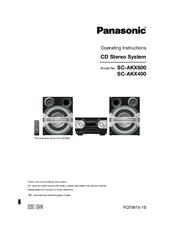 PANASONIC SC-AKX600 OPERATING INSTRUCTIONS MANUAL Pdf Download