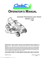 cadet 1170 operator\u0027s manual pdf download