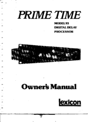 lexicon prime time 93 owner s manual pdf download rh manualslib com lexicon pcm92 owners manual lexicon mc-1 owner's manual