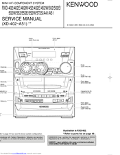 Kenwood RXD-452 Service Manual