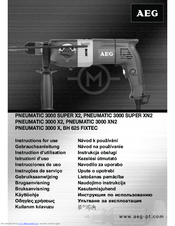 AEG PNEUMATIC 3000 SUPER X2 Instructions For Use Manual