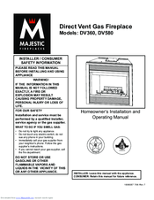 majestic dv360 manuals rh manualslib com Fireplace Inserts Gas Manuals Majestic Fireplace Maintenance