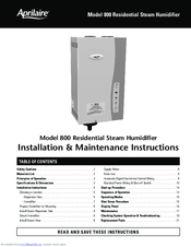 aprilaire 800 series manuals rh manualslib com Aprilaire 600M Specifications Of aprilaire model 800 humidifier installation manual