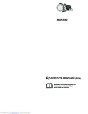 Husqvarna K950 RING Operator's Manual