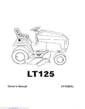 husqvarna lt125 manuals rh manualslib com husqvarna lth 125 manual Husqvarna 2554 Garden Tractor Parts