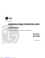 LG MC-924JLA Owner's Manual