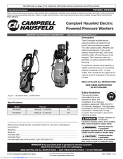 campbell hausfeld pw182501 operating instructions manual pdf download