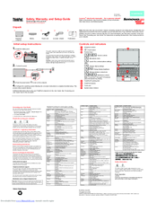 Lenovo ThinkPad Edge E135 Safety, Warranty, And Setup Manual