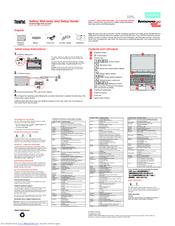 Lenovo ThinkPad Edge E135 Safety, Warranty, And Setup Manual