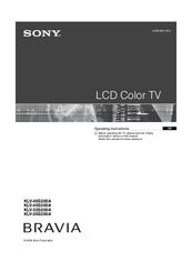 sony bravia klv 40s200a manuals rh manualslib com sony klv-40s200a service manual sony klv-40s200a service manual