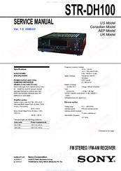 sony str dh100 manuals rh manualslib com sony str dh100 manual pdf Sony STR Dh100 Review