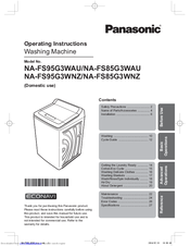 Panasonic ECONAVI NA-FS85G3WAU Manuals