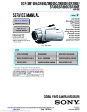 Sony DCR-SR300 Service Manual
