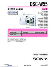 sony cyber shot dsc w55 manuals rh manualslib com sony cyber-shot dsc-w55 7.2 megapixels manual sony cyber shot dsc-w35/w55 manual
