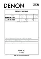 DENON AVR-E200 SERVICE MANUAL Pdf Download