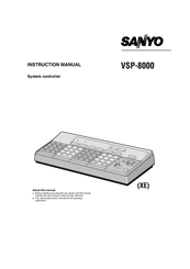 Sanyo VSP-8000 Instruction Manual