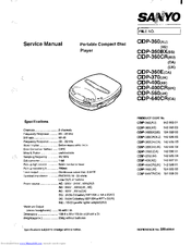 Sanyo CDP-360 Service Manual