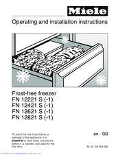 Miele FN 12621 S-1 Operating And Installation Instructions