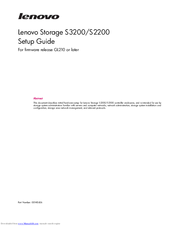 Lenovo S3200 Setup Manual