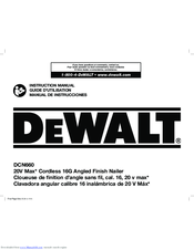 dewalt dcn660 manuals rh manualslib com dewalt owners manuals pdf dewalt owners manual dcst920b