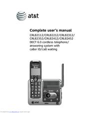 at t crl82312 manuals rh manualslib com at&t telephone manuals at&t telephone dect 6.0 manual