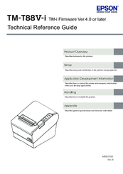 EPSON TM-TM88V-I TECHNICAL REFERENCE MANUAL Pdf Download