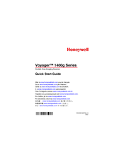 Honeywell 1400g2D Quick Start Manual