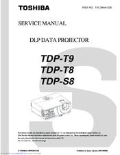 toshiba tdp t8 manuals rh manualslib com Toshiba Laptop Repair Manual Toshiba TV Owners Manual