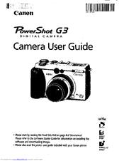 canon powershot g3 user manual pdf download rh manualslib com PowerShot G3 Pictures Sample PowerShot G7