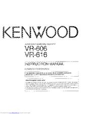 kenwood vr 606 manuals rh manualslib com
