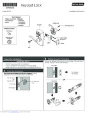 Schlage Fe575 Manuals