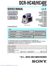 sony dcr hc40 service manual pdf download rh manualslib com sony handycam dcr-hc40e driver sony handycam dcr-hc40e driver