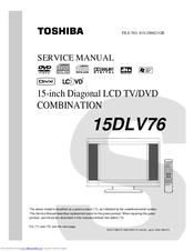 toshiba 15dlv76 15 lcd tv manuals rh manualslib com Big Screen TV Repair Manuals Sony LCD TV