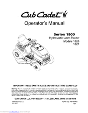 cub cadet 1527 manuals rh manualslib com Cub Cadet Repair Manuals Cub Cadet 2000 Series Manual