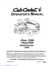 cub cadet 2206 manuals rh manualslib com Cub Cadet Model 2130 Cub Cadet 3204 Starter