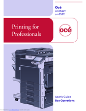 oce cm2522 manuals rh manualslib com Oce Copier Supplies Oce VarioPrint 6200 Printers and Copiers