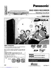 panasonic diga dmr e60 manuals rh manualslib com Panasonic VCR Panasonic DMR- EZ48V
