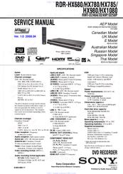 sony rdr hx680 service manual pdf download rh manualslib com Sony Handycam Manual Sony DVD Recorder User Manual