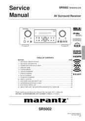 marantz sr5002 manuals rh manualslib com Marantz SR4002 Marantz SR4002
