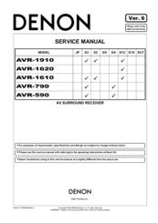 Denon avr 683 Manual