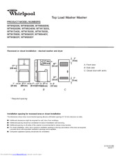 WHIRLPOOL WTW6200V DIION MANUAL Pdf Download. on