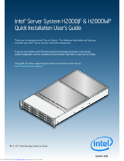 Intel H2000WP Server System Drivers Download