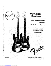 fender american vintage 62 stratocaster reissue manuals rh manualslib com Manuals in PDF Instruction Manual