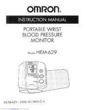 Omron hem 629 auto inflate wrist blood pressure monitor.