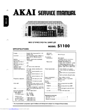 akai s1100 manuals rh manualslib com User Manual User Webcast