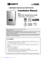 Noritz Nrcp1112 Dv Manuals