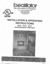 Heatilator EC42 Manuals
